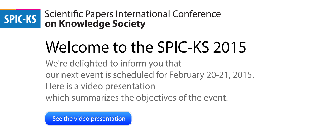 Scientific Papers International Conference on Knowledge Society